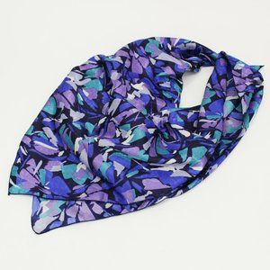 Vintage Mademoiselle Blue Stained Glass Scarf